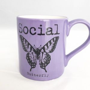 Social Butterfly Purple Mug Our Name is Mud Fun